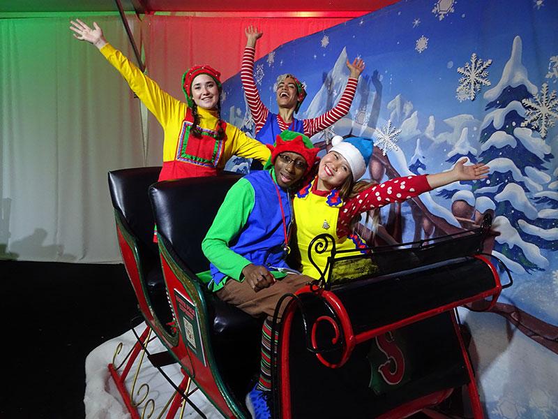 Elves on sled