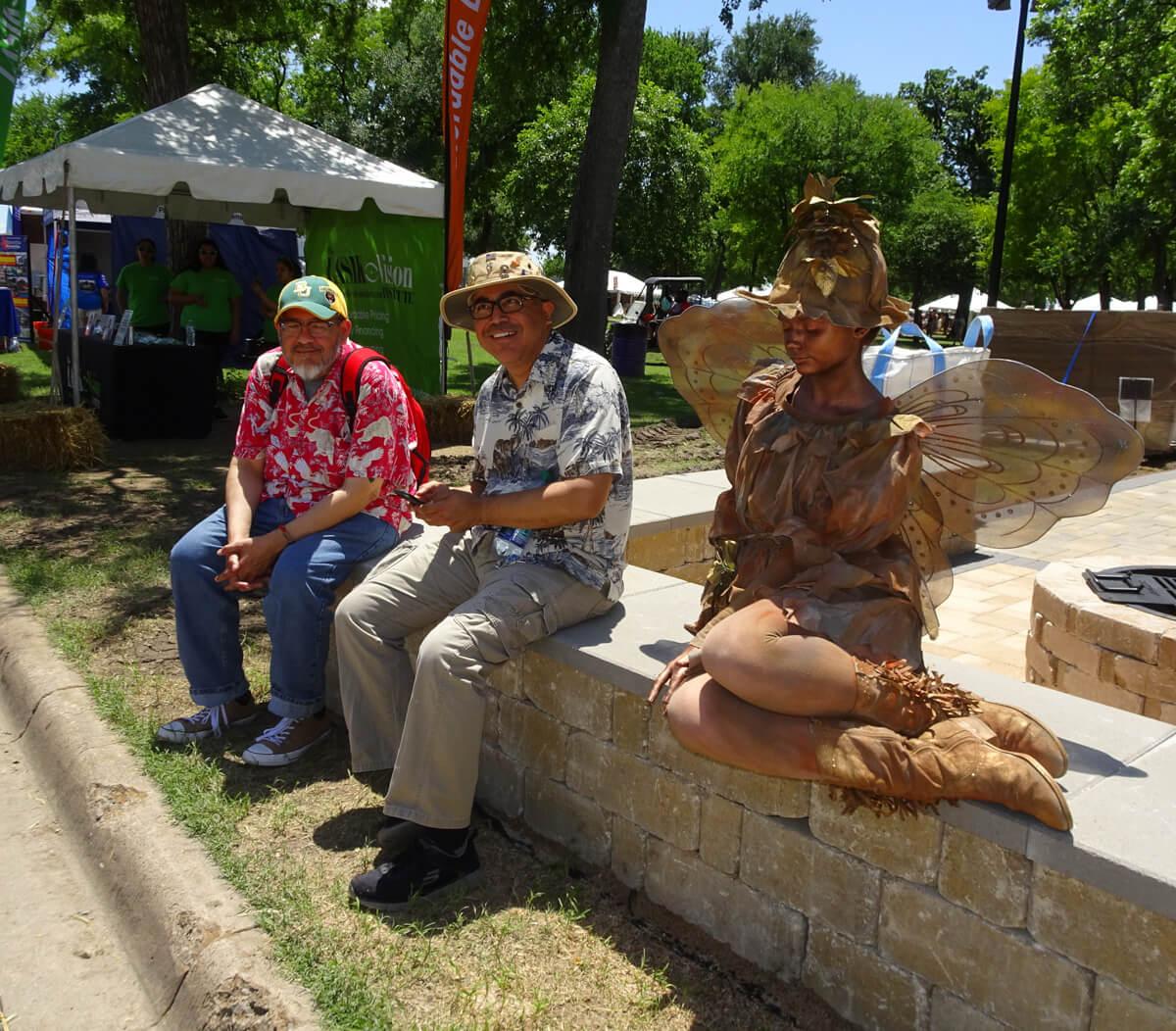 Fairy statue with men